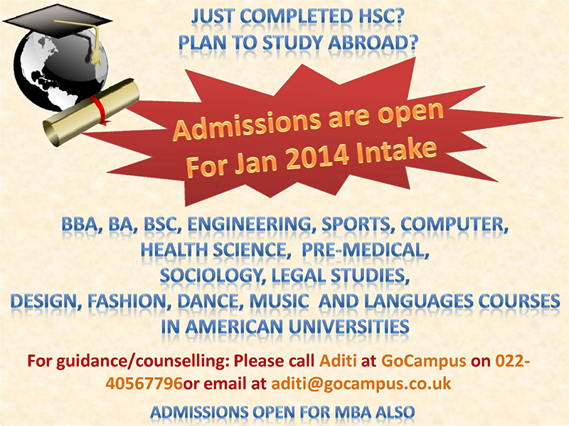 Admissions Open Jan 14
